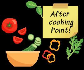 食材の保管方法もレクチャー